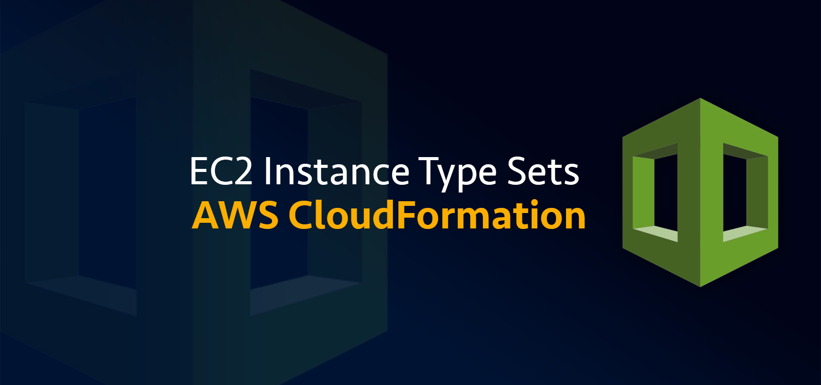 AWS CloudFormation EC2 Instance Type Snippets